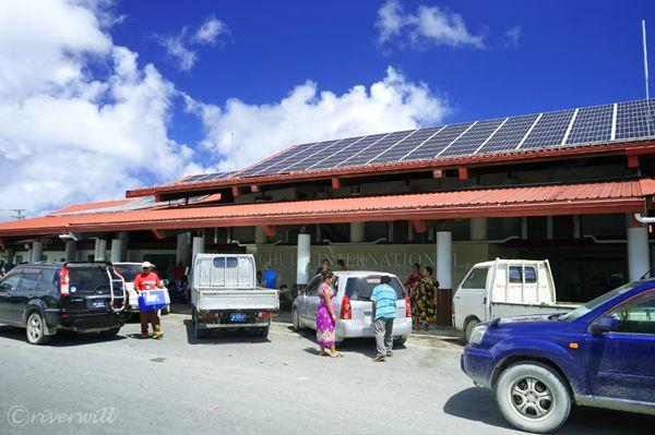 【ミクロネシア・ジープ島】ミクロネシア・チューク国際空港に到着