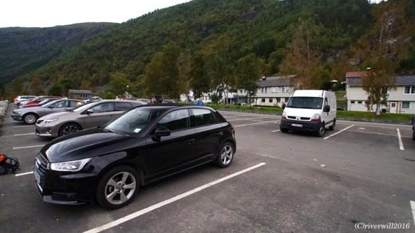 【ノルウェー・トロルの舌】トロルの舌の登山口駐車場